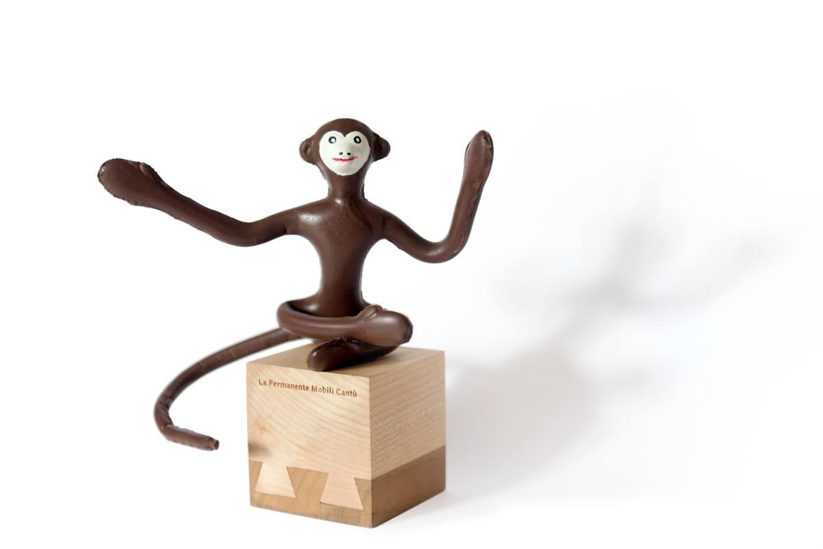 La scimmietta zizi di Bruno Munari e la Permanente Mobili Cantù